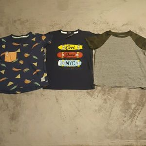 Lot of 3 boys size 5 t shirts